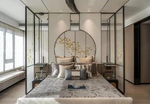 新中式卧室,这么美!
